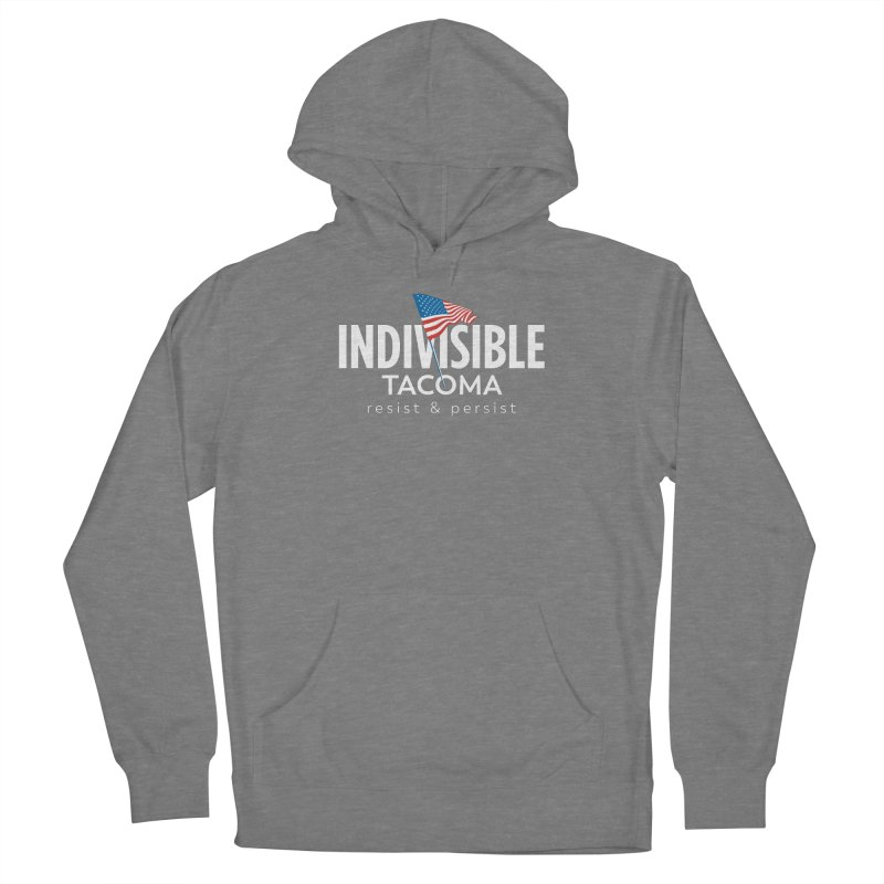 Inidivisible Tacoma flag logo - white Women's Pullover Hoody by SymerSpace Art Shop