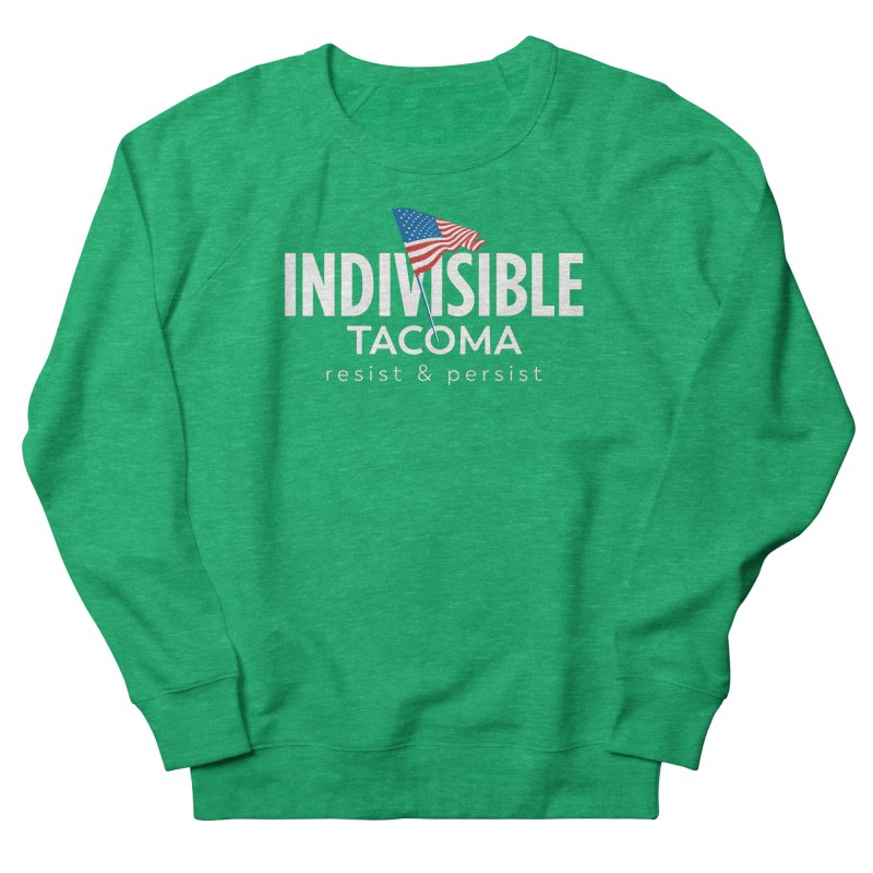 Inidivisible Tacoma flag logo - white Women's Sweatshirt by SymerSpace Art Shop