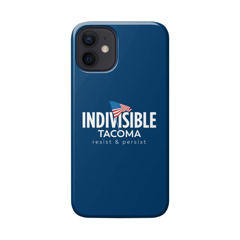 Inidivisible Tacoma flag logo - white Accessories Phone Case by SymerSpace Art Shop