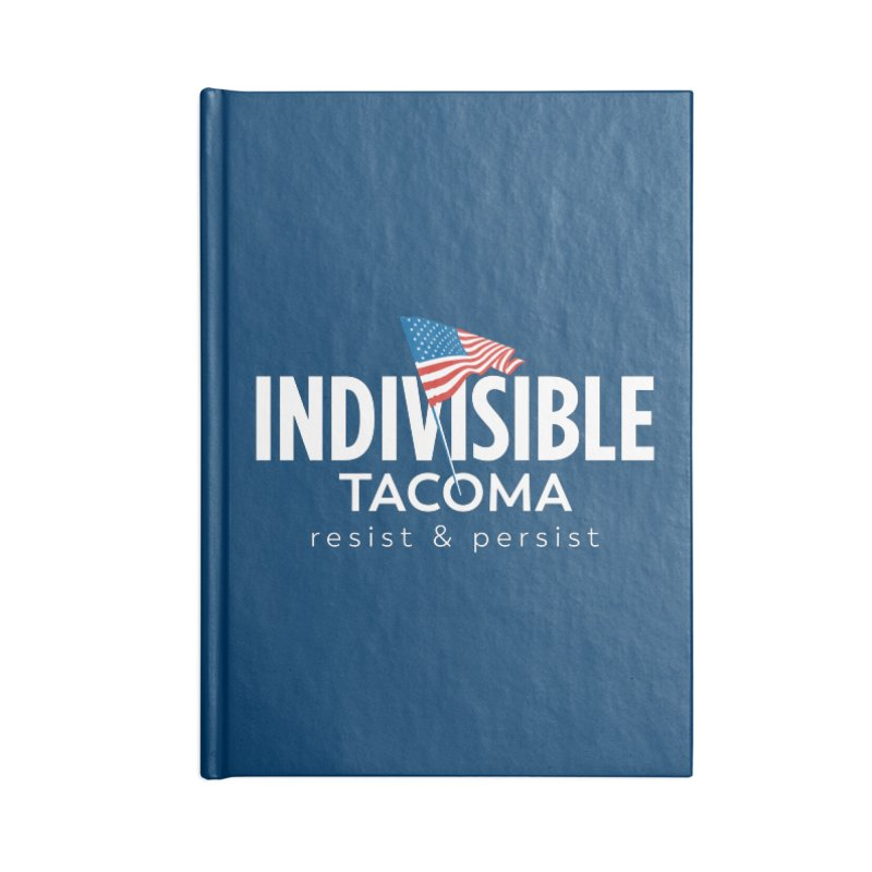 Inidivisible Tacoma flag logo - white Accessories Notebook by SymerSpace Art Shop