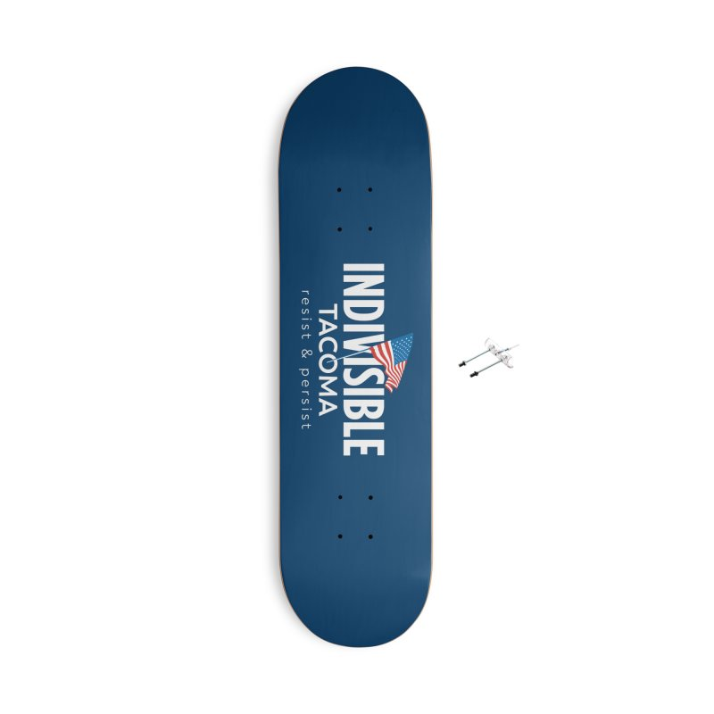 Inidivisible Tacoma flag logo - white Accessories Skateboard by SymerSpace Art Shop