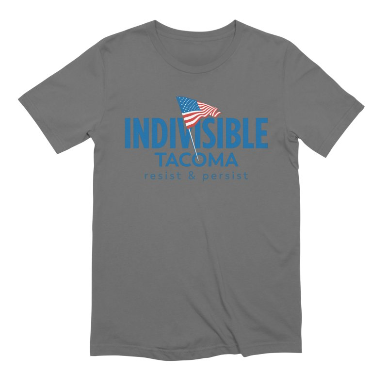 Indivisible Tacoma flag logo - blue Men's T-Shirt by SymerSpace Art Shop