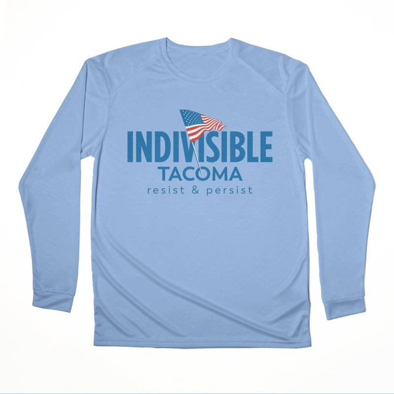 Indivisible Tacoma flag logo - blue Women's Longsleeve T-Shirt by SymerSpace Art Shop