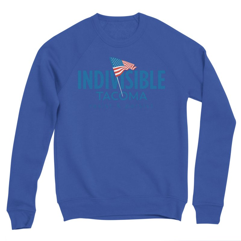 Indivisible Tacoma flag logo - blue Women's Sweatshirt by SymerSpace Art Shop