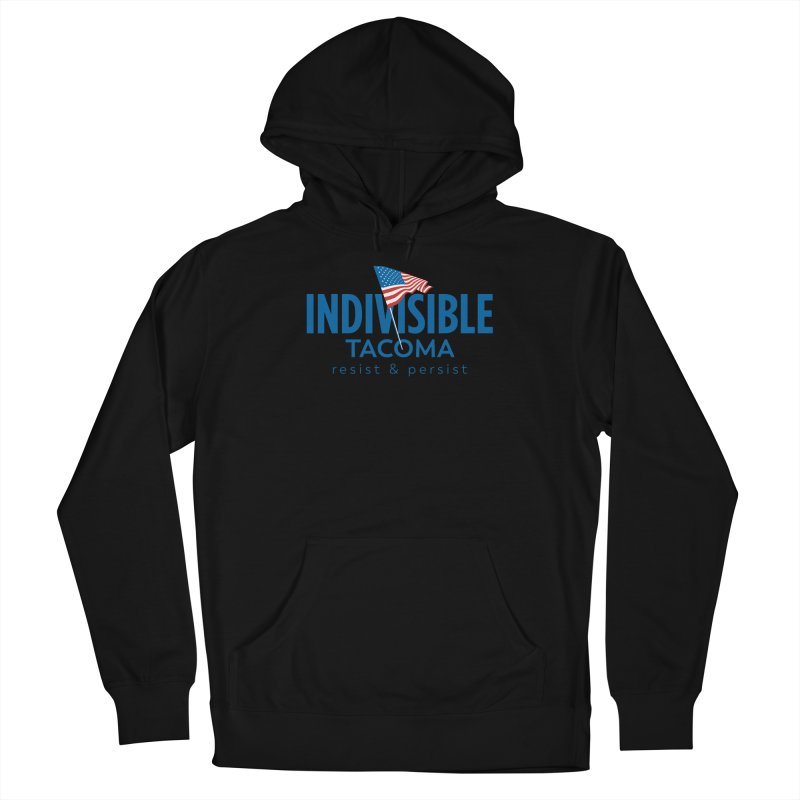Indivisible Tacoma flag logo - blue Women's Pullover Hoody by SymerSpace Art Shop