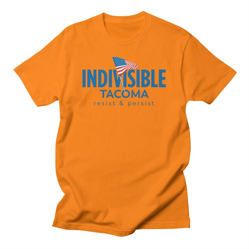 Indivisible Tacoma flag logo - blue Women's T-Shirt by SymerSpace Art Shop
