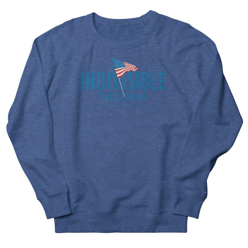 Indivisible Tacoma flag logo - blue Men's Sweatshirt by SymerSpace Art Shop