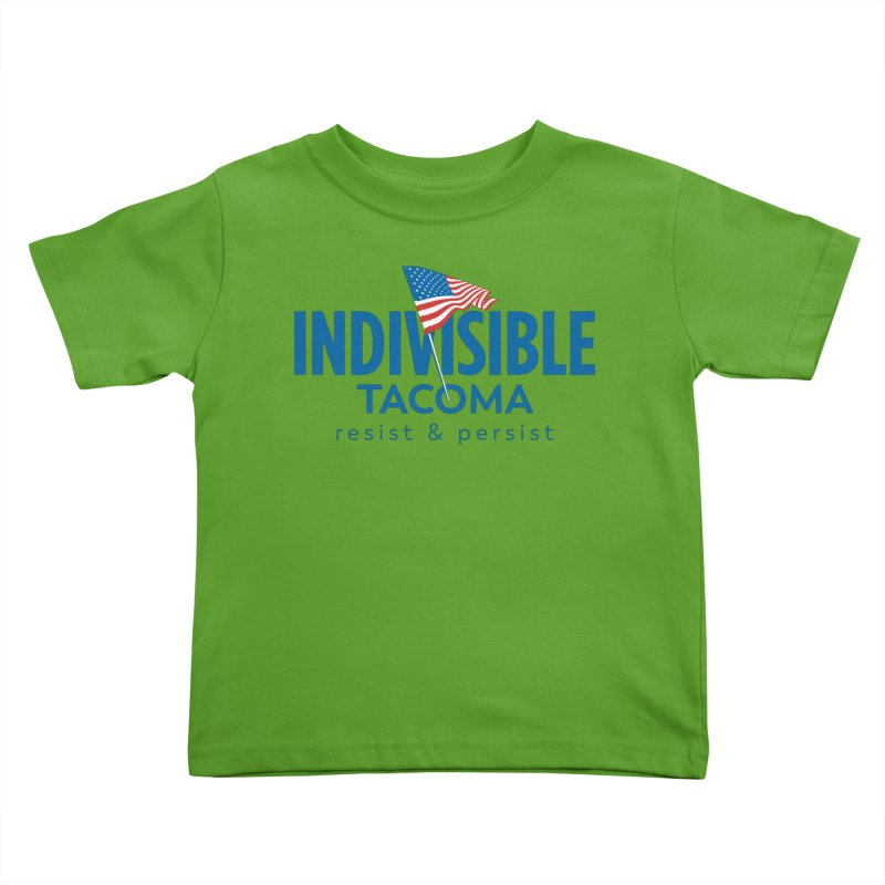 Indivisible Tacoma flag logo - blue Kids Toddler T-Shirt by SymerSpace Art Shop