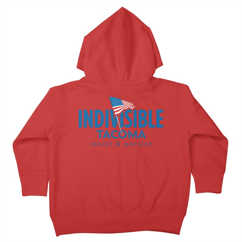 Indivisible Tacoma flag logo - blue Kids Toddler Zip-Up Hoody by SymerSpace Art Shop