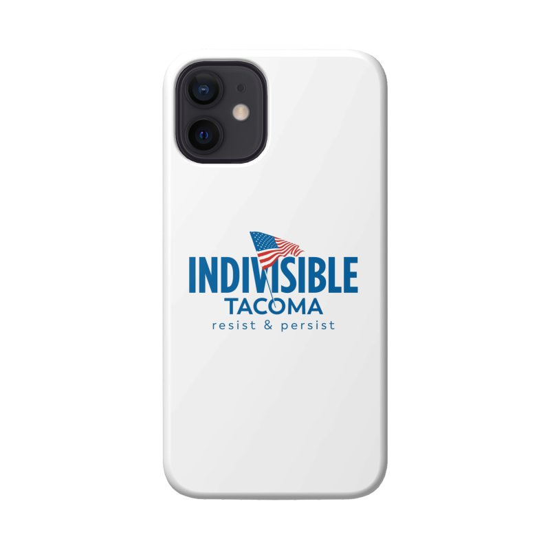 Indivisible Tacoma flag logo - blue Accessories Phone Case by SymerSpace Art Shop