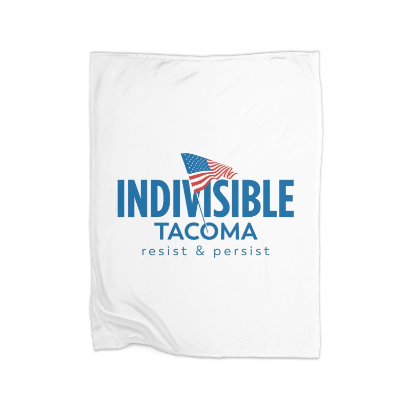 Indivisible Tacoma flag logo - blue Home Blanket by SymerSpace Art Shop
