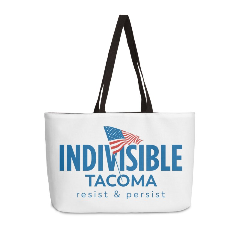 Indivisible Tacoma flag logo - blue Accessories Bag by SymerSpace Art Shop