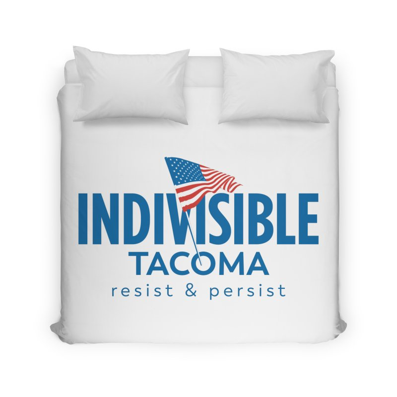 Indivisible Tacoma flag logo - blue Home Duvet by SymerSpace Art Shop