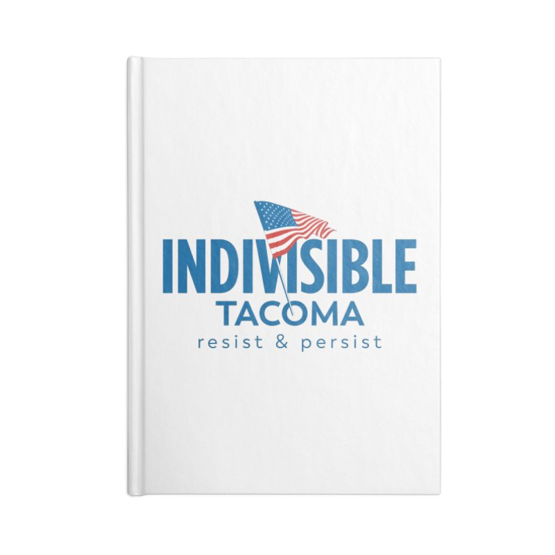 Indivisible Tacoma flag logo - blue Accessories Notebook by SymerSpace Art Shop