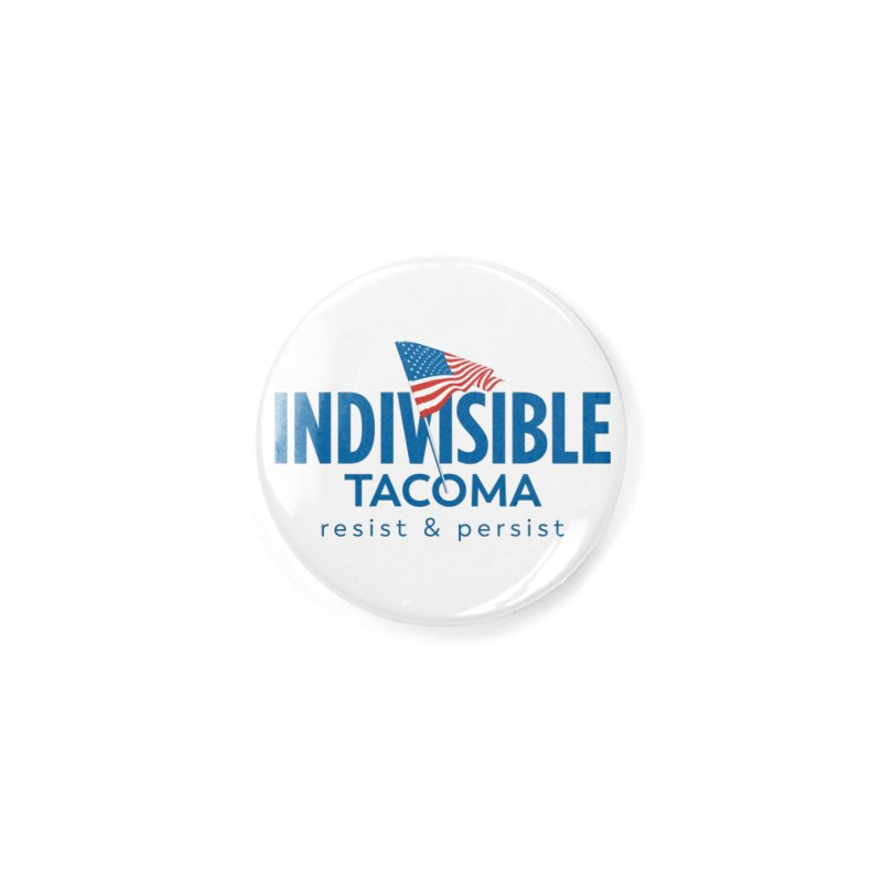Indivisible Tacoma flag logo - blue Accessories Button by SymerSpace Art Shop
