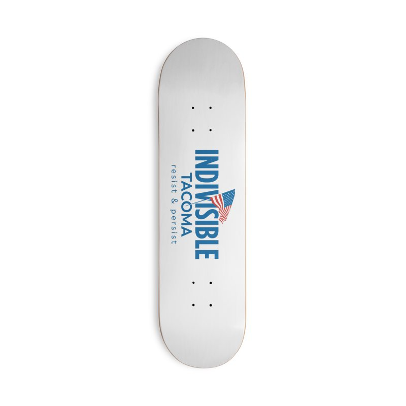 Indivisible Tacoma flag logo - blue Accessories Skateboard by SymerSpace Art Shop