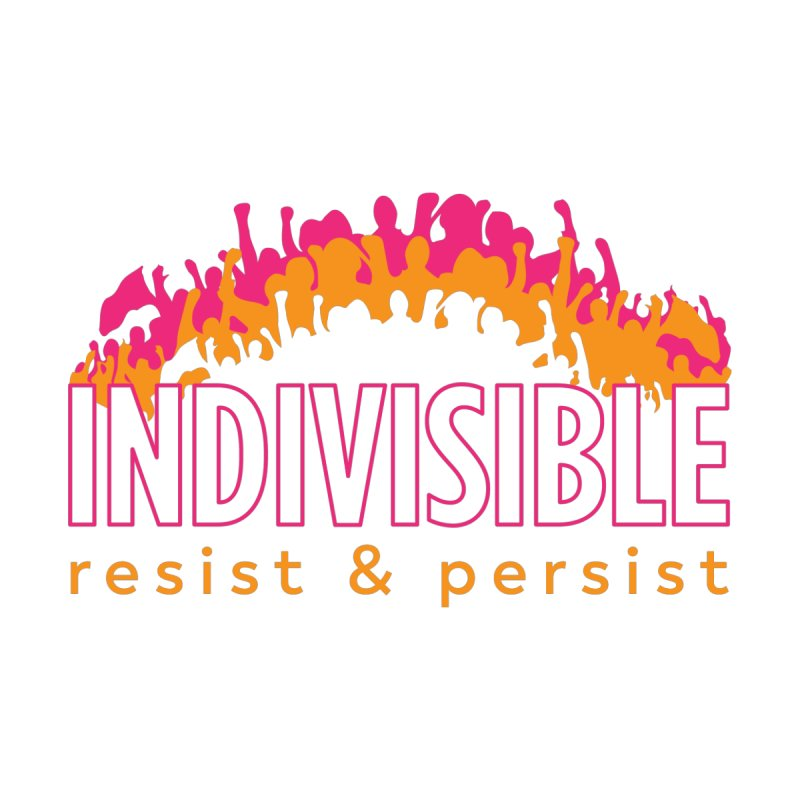 Indivisible crowd rising - orange and magenta Women's Longsleeve T-Shirt by SymerSpace Art Shop