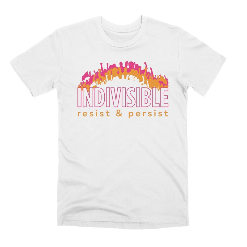 Indivisible crowd rising - orange and magenta Men's T-Shirt by SymerSpace Art Shop