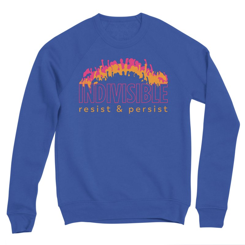 Indivisible crowd rising - orange and magenta Women's Sweatshirt by SymerSpace Art Shop