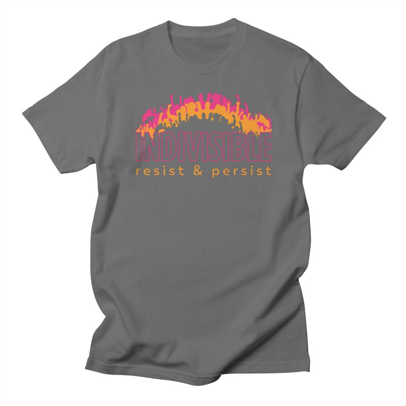 Indivisible crowd rising - orange and magenta Women's T-Shirt by SymerSpace Art Shop