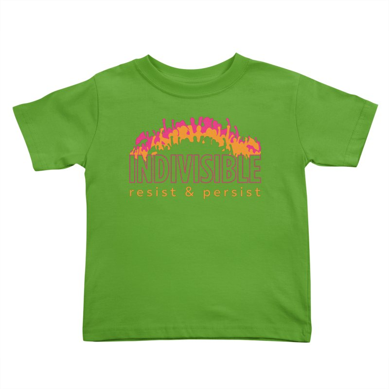 Indivisible crowd rising - orange and magenta Kids Toddler T-Shirt by SymerSpace Art Shop