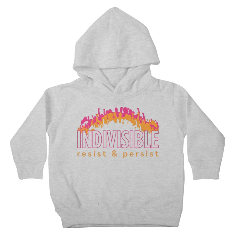 Indivisible crowd rising - orange and magenta Kids Toddler Pullover Hoody by SymerSpace Art Shop