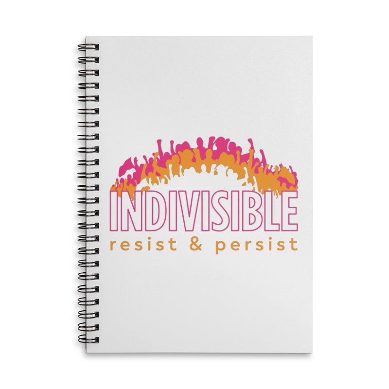Indivisible crowd rising - orange and magenta Accessories Notebook by SymerSpace Art Shop