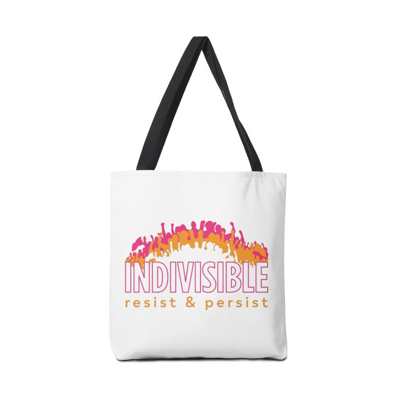 Indivisible crowd rising - orange and magenta Accessories Bag by SymerSpace Art Shop