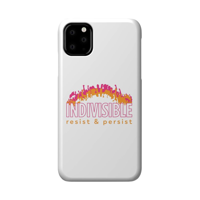 Indivisible crowd rising - orange and magenta Accessories Phone Case by SymerSpace Art Shop