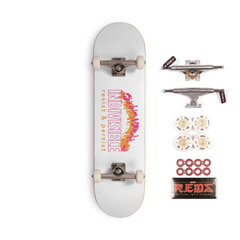 Indivisible crowd rising - orange and magenta Accessories Skateboard by SymerSpace Art Shop