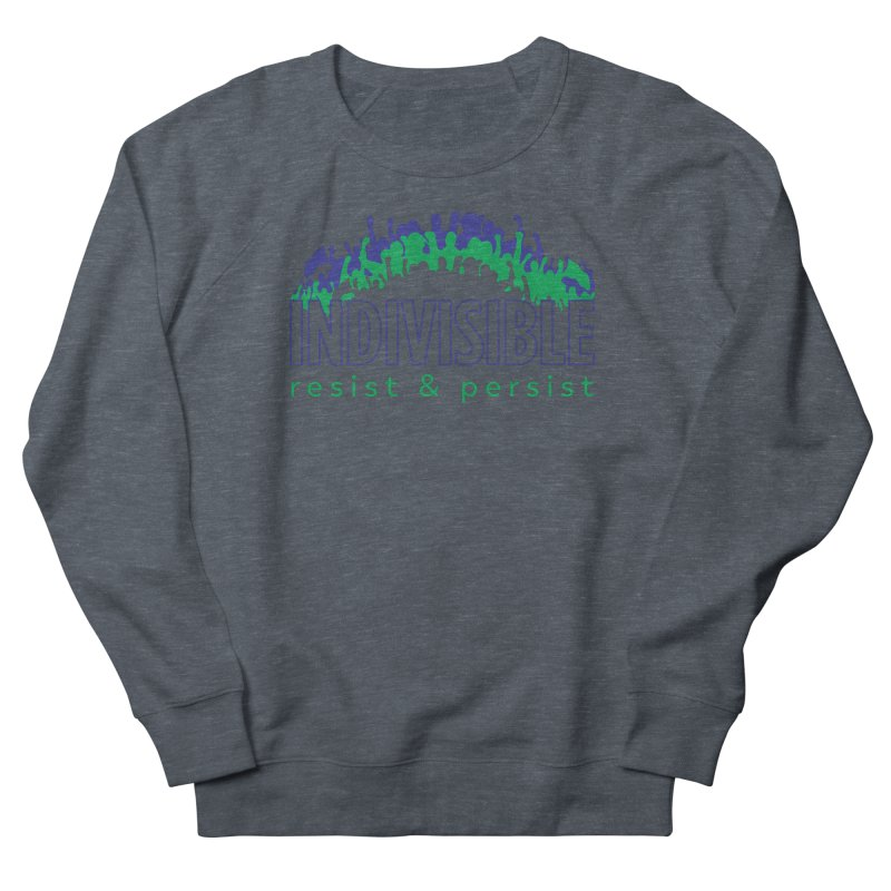 Indivisible crowd rising - blue and green Men's Sweatshirt by SymerSpace Art Shop