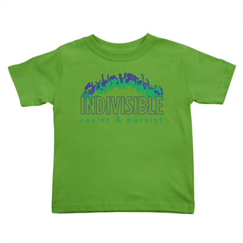 Indivisible crowd rising - blue and green Kids Toddler T-Shirt by SymerSpace Art Shop