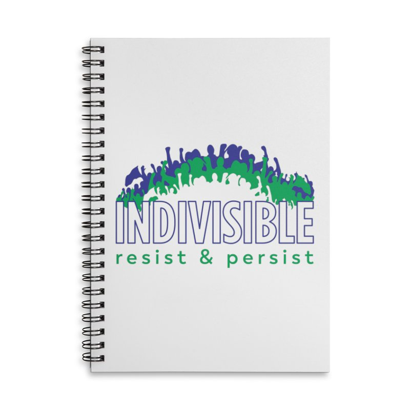 Indivisible crowd rising - blue and green Accessories Notebook by SymerSpace Art Shop
