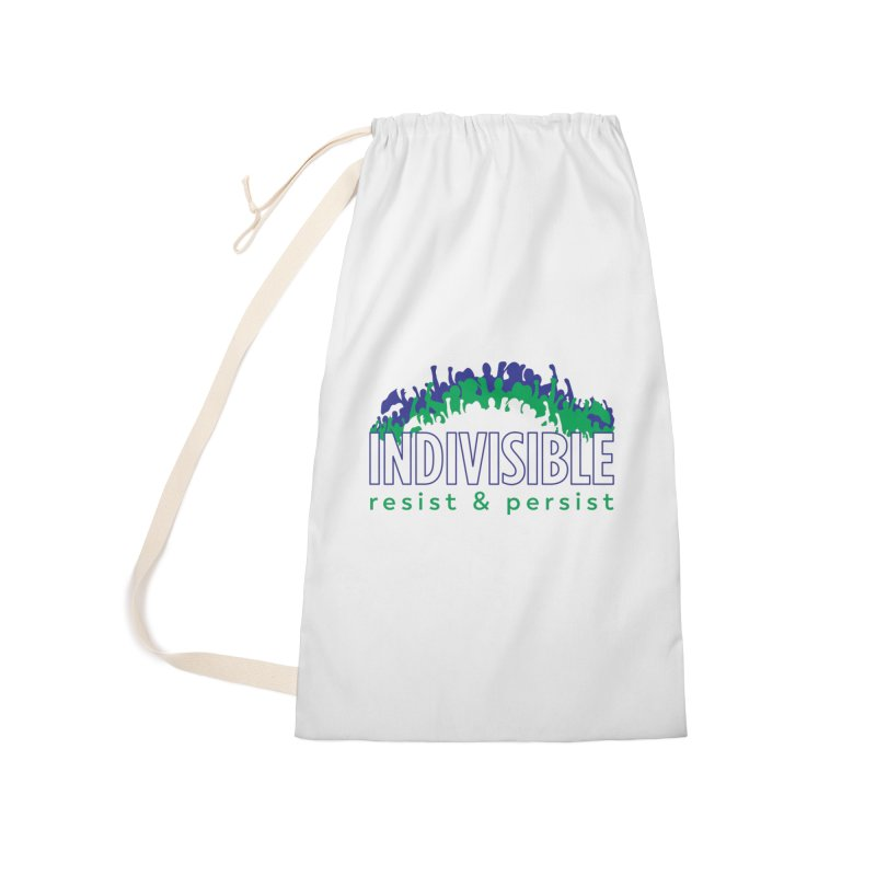 Indivisible crowd rising - blue and green Accessories Bag by SymerSpace Art Shop