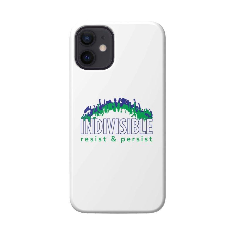 Indivisible crowd rising - blue and green Accessories Phone Case by SymerSpace Art Shop
