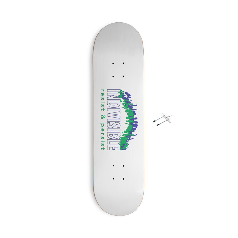 Indivisible crowd rising - blue and green Accessories Skateboard by SymerSpace Art Shop