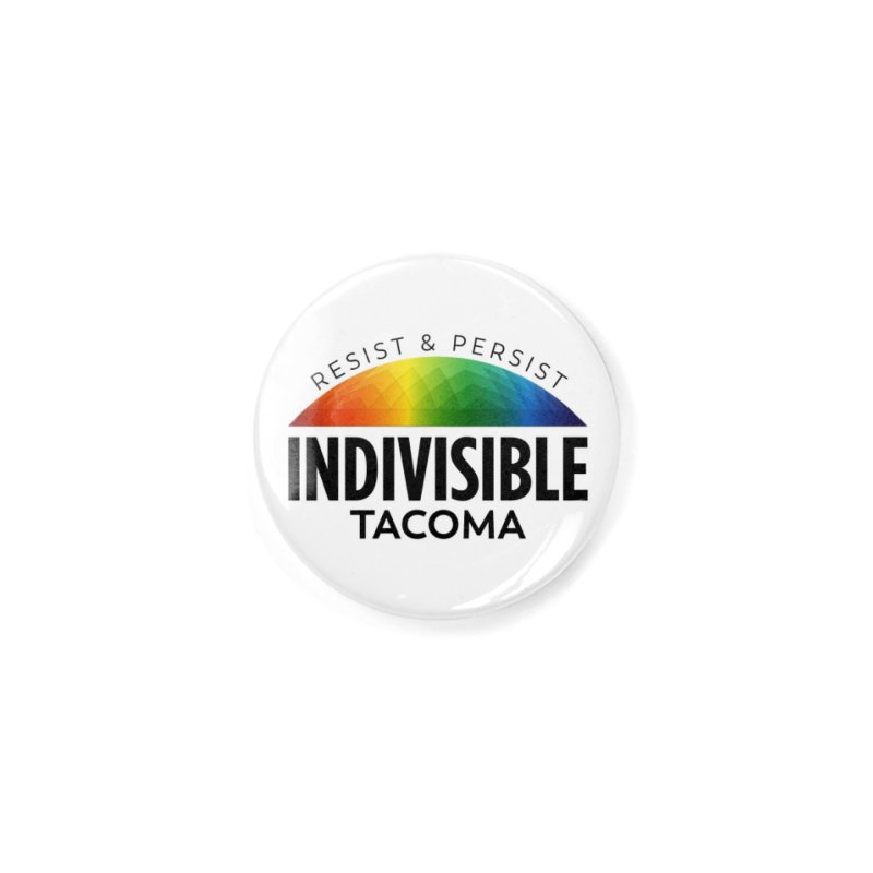 Indivisible Tacoma rainbow dome - black Accessories Button by SymerSpace Art Shop
