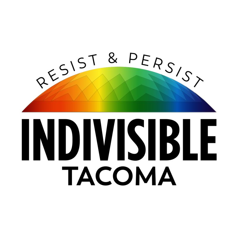Indivisible Tacoma rainbow dome - black Men's T-Shirt by SymerSpace Art Shop