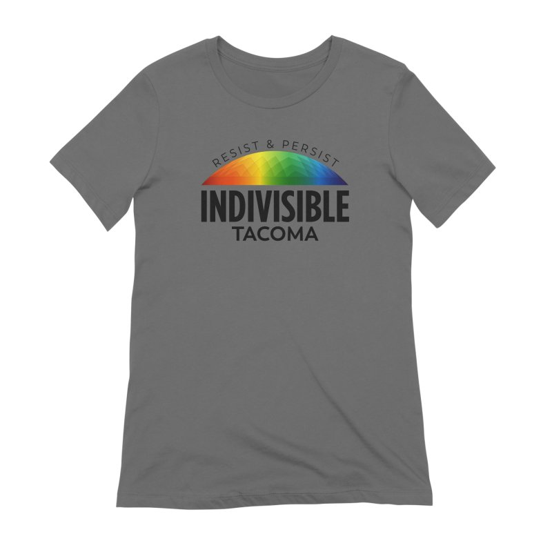 Indivisible Tacoma rainbow dome - black Women's T-Shirt by SymerSpace Art Shop