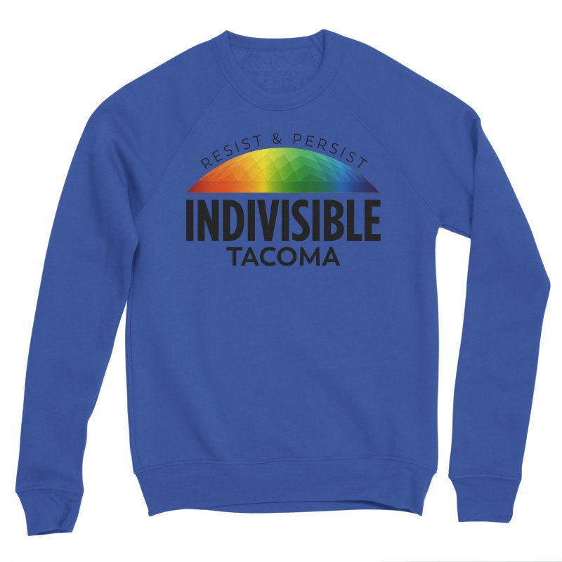 Indivisible Tacoma rainbow dome - black Men's Sweatshirt by SymerSpace Art Shop
