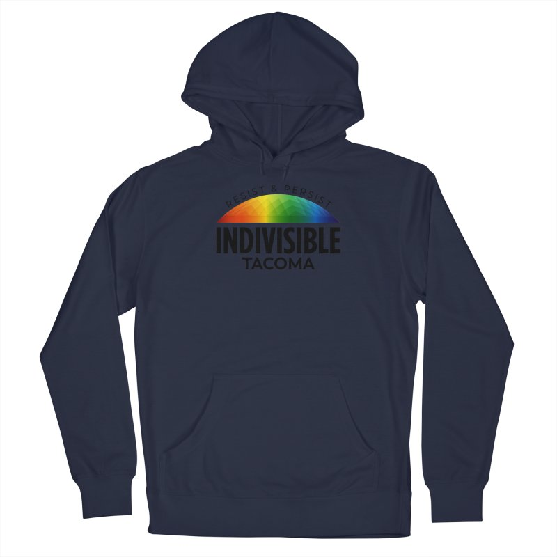 Indivisible Tacoma rainbow dome - black Men's Pullover Hoody by SymerSpace Art Shop