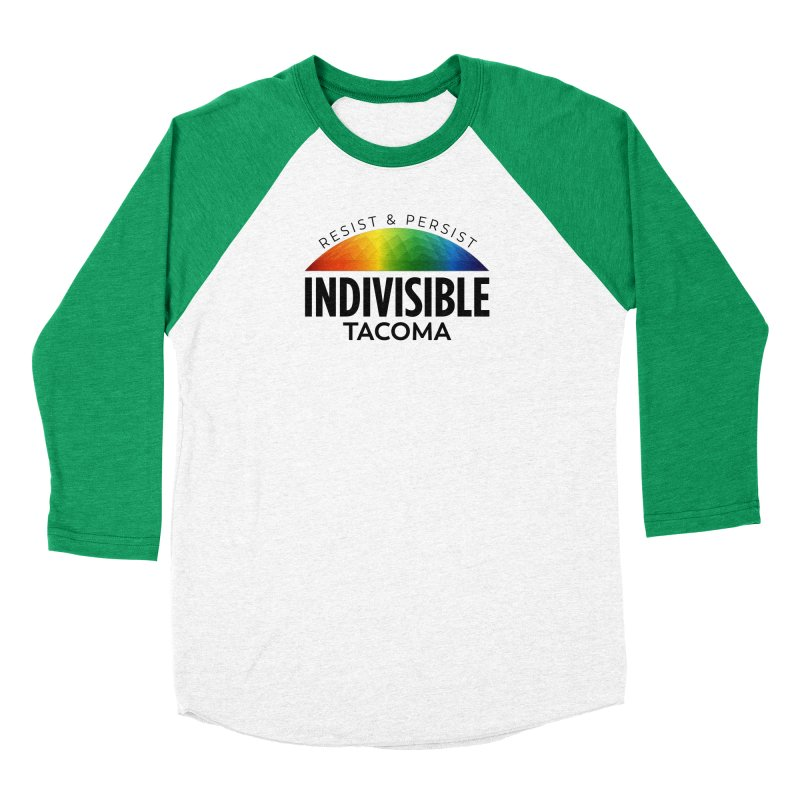 Indivisible Tacoma rainbow dome - black Men's Longsleeve T-Shirt by SymerSpace Art Shop