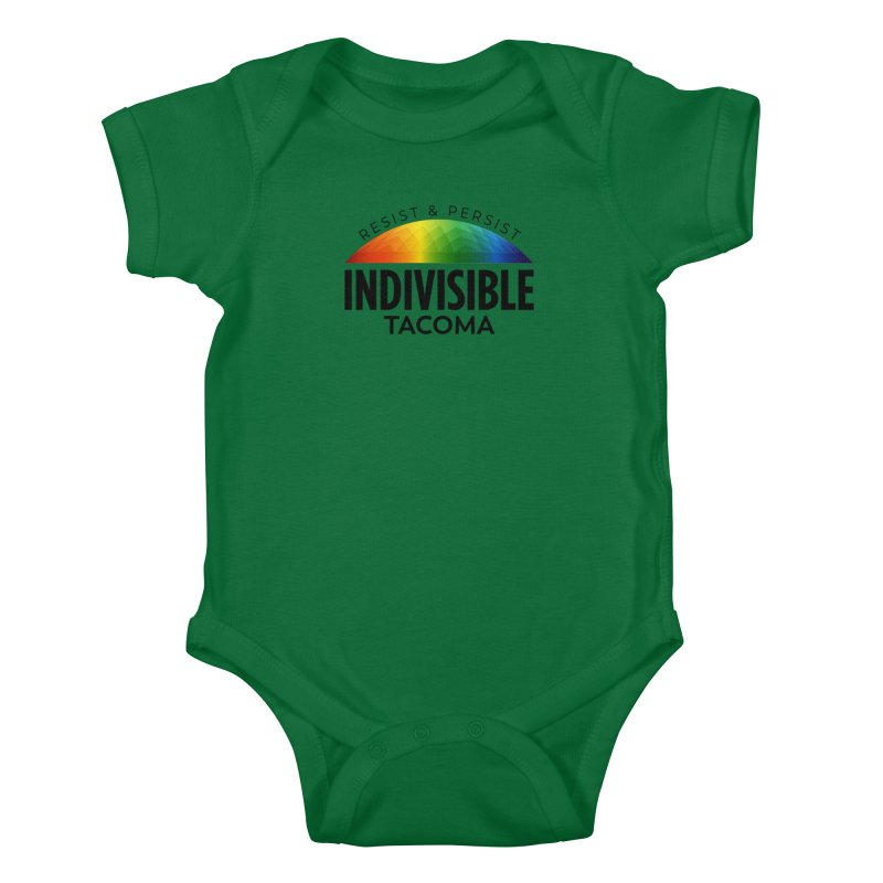 Indivisible Tacoma rainbow dome - black Kids Baby Bodysuit by SymerSpace Art Shop