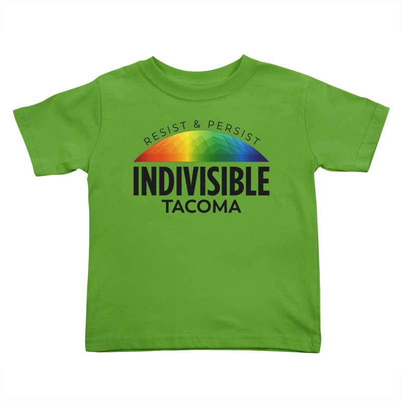 Indivisible Tacoma rainbow dome - black Kids Toddler T-Shirt by SymerSpace Art Shop