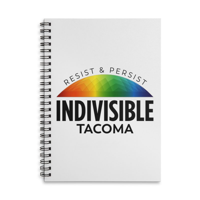Indivisible Tacoma rainbow dome - black Accessories Notebook by SymerSpace Art Shop