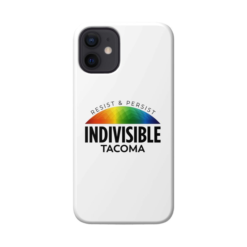 Indivisible Tacoma rainbow dome - black Accessories Phone Case by SymerSpace Art Shop