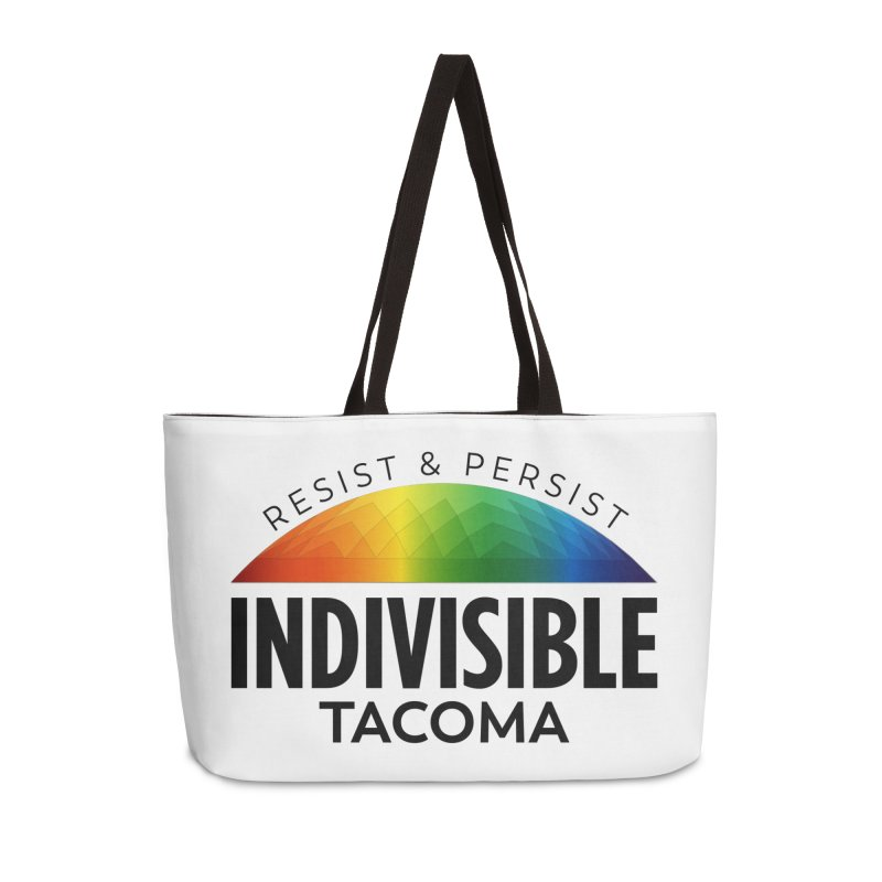 Indivisible Tacoma rainbow dome - black Accessories Bag by SymerSpace Art Shop