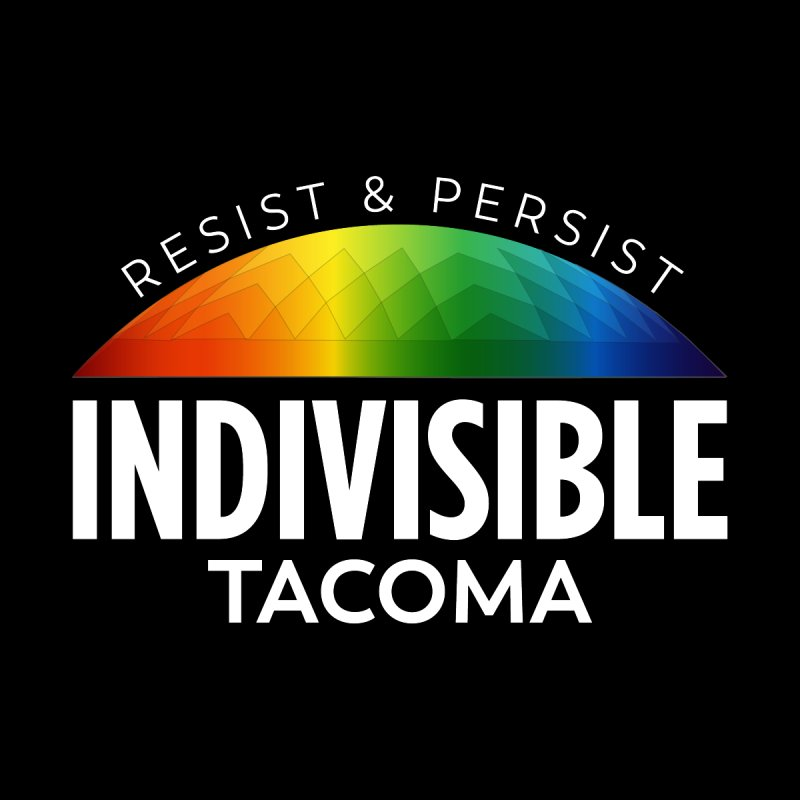 Indivisible Tacoma rainbow dome - white Accessories Sticker by SymerSpace Art Shop