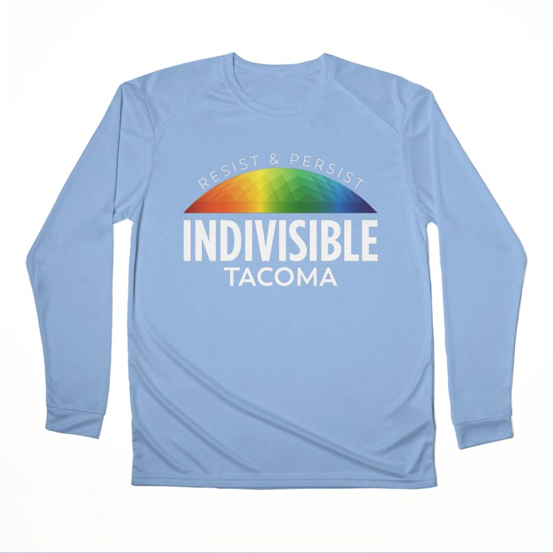 Indivisible Tacoma rainbow dome - white Women's Longsleeve T-Shirt by SymerSpace Art Shop