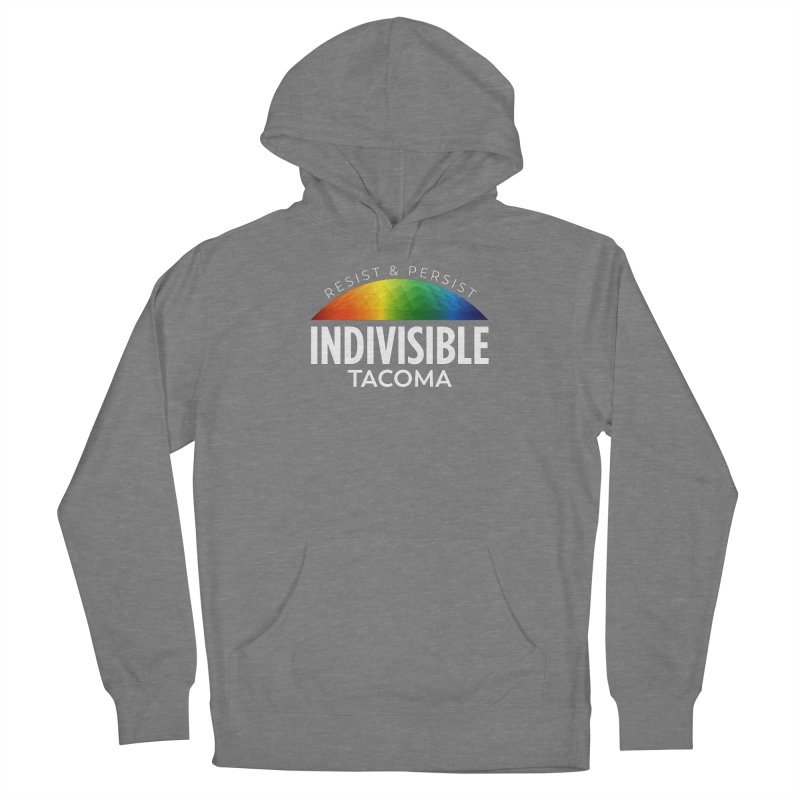Indivisible Tacoma rainbow dome - white Women's Pullover Hoody by SymerSpace Art Shop